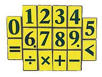 Фишки с Цифрами на магните пластиковые 16шт 2 х 3 см AS-0016, К- 4021