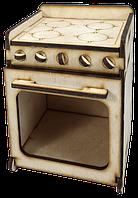 Мебель для кукол типа Барби - Газовая печь  11 х 11 х 14 см