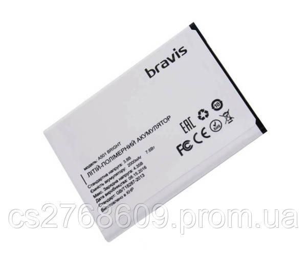 Батарея / Акумулятор 100% Original Bravis Bright, A501