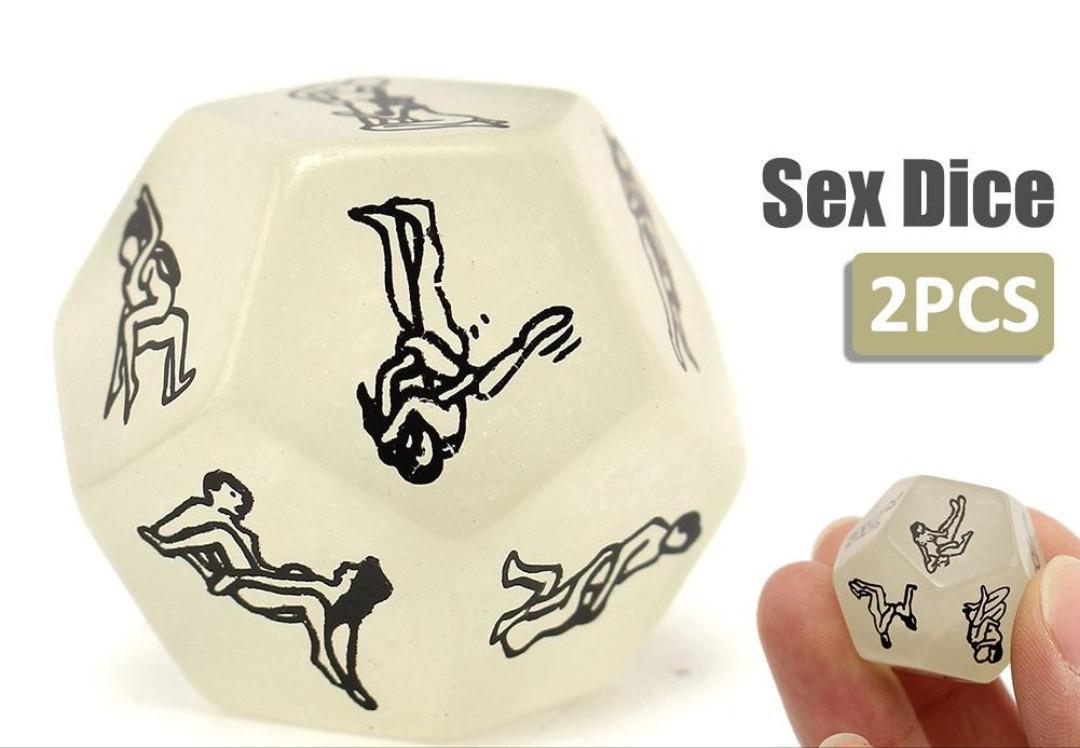 Эротический кубик с позами для секса, комплект 2 шт
