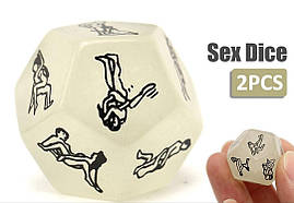 Еротичний кубик з позами для сексу, комплект 2 шт