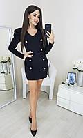 Женское нарядное платье 4019 (42-44,46-48) (цвет черный) СП, фото 1