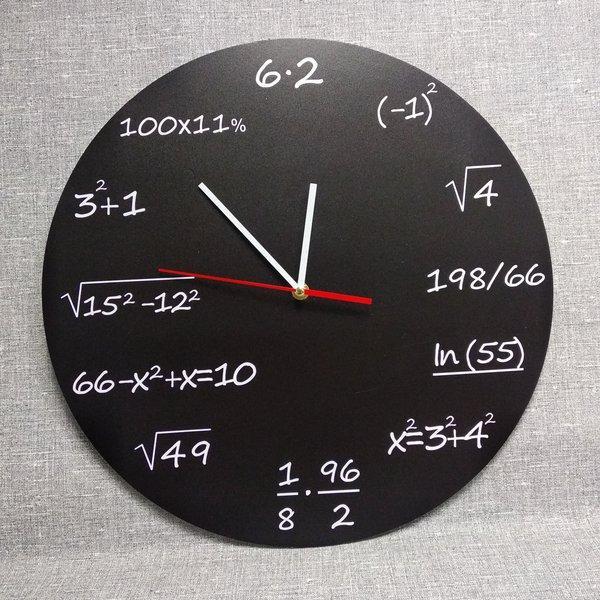 Настінні годинники Чорні формулами