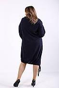 ❤/ Женское оригинальное синее платье 01315 / Размер 42-72 / Батал, фото 4