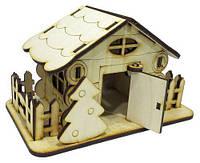 Домик № 15 сувенирный с открывающейся дверью 15х8х9см