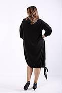❤/ Женское черное платье из ангоры 01315 / Размер 42-72 / Батал, фото 4