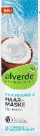 Alverde Маска для волос для увлажнения, сухих и напряженных волос с органическим кокосовым маслом, 20 мл