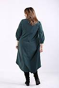❤/ Женское зеленое свободное платье 01314 / Размер 42-72 / Батал, фото 4