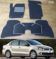 Коврики на Volkswagen Polo '10-17. седан. Текстильные автоковрики