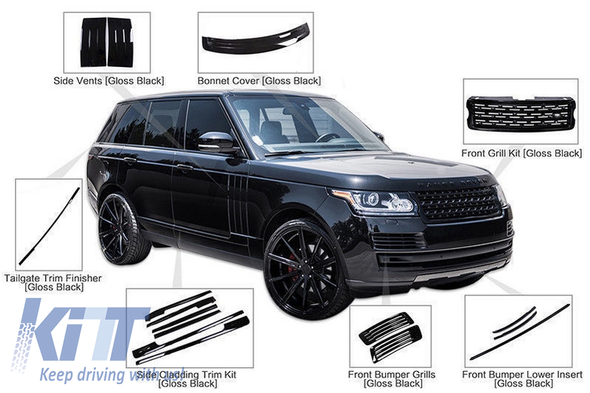 Комплект накладок BlackEdition Range Rover IV L405 2014↗ гг.