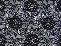 Стрейч-гипюр CHRISANNE (Англия) черный (enchanted black)