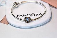 Шарм бусина серебро Сердце подвеска для браслета Pandora Пандора серебряная