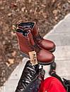 Кожаные женские ботинки Dr. Martens Jadon Bordo, фото 6