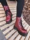 Кожаные женские ботинки Dr. Martens Jadon Bordo, фото 9