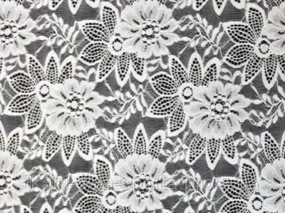 Стрейч-гипюр CHRISANNE (Англия) белый (enchanted white)