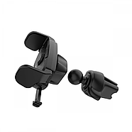 Холдер Hoco CA39 Triumph air outlet semi-automatic in-car holder Black, фото 3