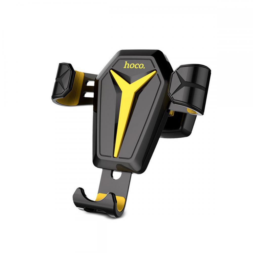 Холдер Hoco CA22 Kingcrab vehicle mounted gravitative holder Black & Yellow