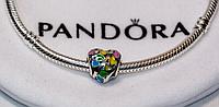 Серебряная подвеска шарм Сердце бусина для браслета Pandora Пандора серебро, фото 1