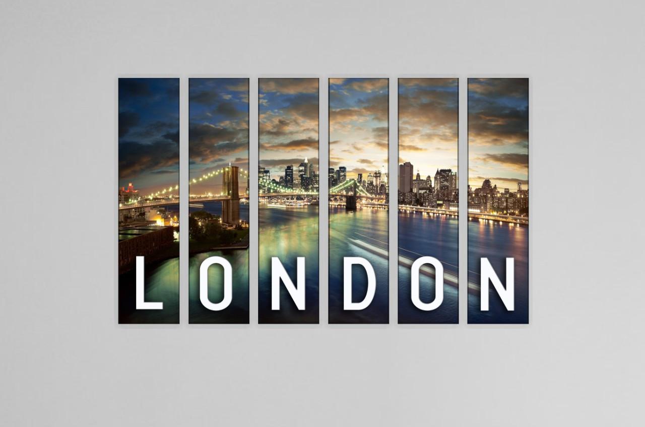 Картина модульная город Лондон
