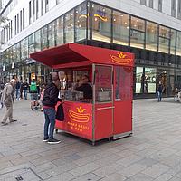 Торговый павильон для продажи хот-догов, бургеров, пиццы.