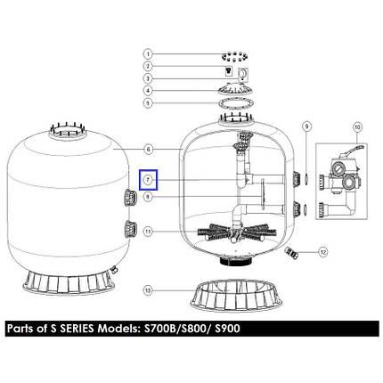 Диффузор фильтра Emaux S900 89011211, фото 2