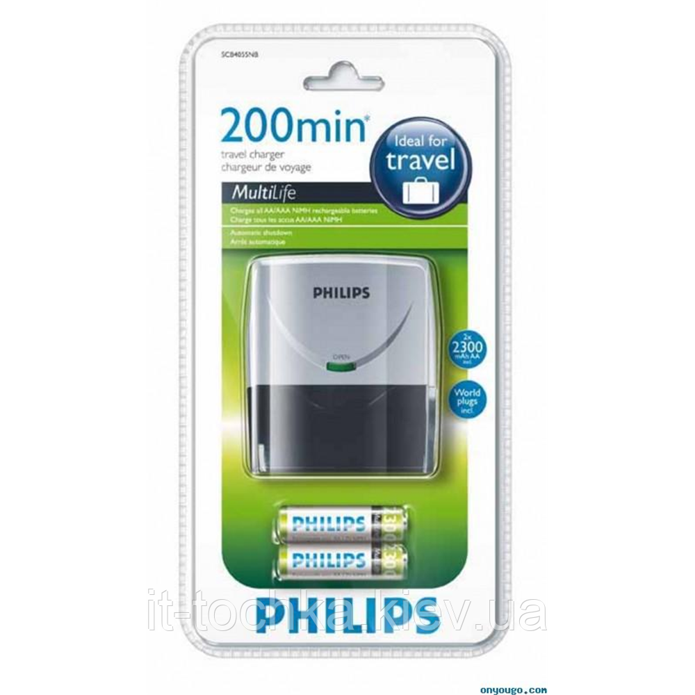 Philips multilife scb4055nb заряд.устр.+2aa 2300 mah (scb4055nb/12)