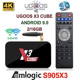 TV-Приставка Ugoos X3 Cube 2GB/16GB S905X3 (Android Smart TV Box)