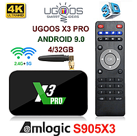 TV-Приставка Ugoos X3 Pro 4GB/32GB S905X3 (Android Smart TV Box)