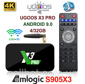 TV-Приставка Ugoos X3 Pro 4GB/32GB S905X3 (Android Smart TV Box)