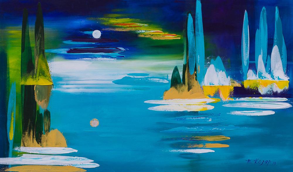 """""""Перевернутий світ"""" 3d полотно 60х100 картина акрил"""