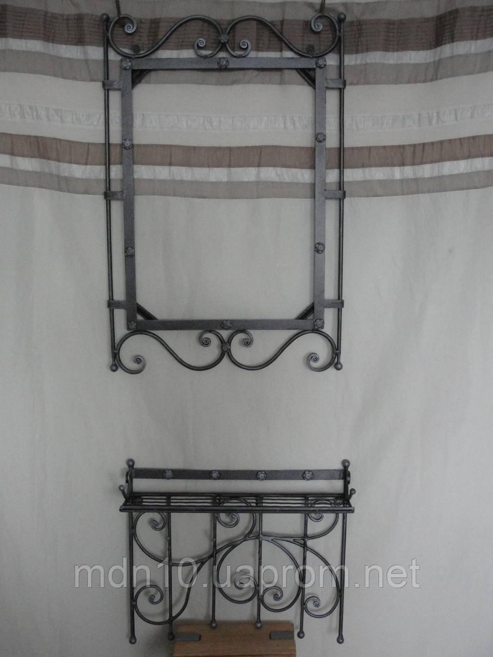 Кованый набор мебели в прихожую  -  011