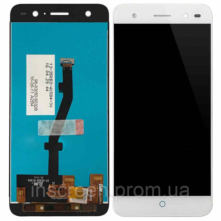 Дисплей ZTE Blade V7 Lite з сенсором (тачскрін) білий, фото 2