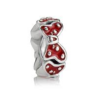 Серебряная подвеска бусина шарм Микки на браслет pandora пандора