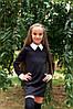 Школьное  детское платье Белый воротник + манжеты   22/095, фото 2
