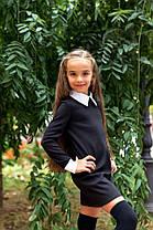 Школьное  детское платье Белый воротник + манжеты   22/095, фото 3
