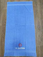 Полотенце махровое банное с символикой FC Baern.