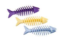 Sum Plast Dent-a-Chew Fishbone игрушка неоновая рыбка для собак с запахом ванили, 16см