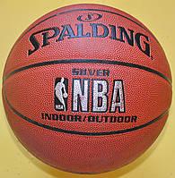 М'яч баскетбольний клеєний №7 SPALDING 64531 NBA SILVER SERIES