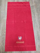 Полотенце махровое банное с символикой FC Arsenal.
