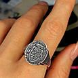Серебряное мужское кольцо с гербом и львом, фото 3