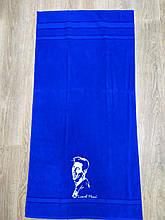Полотенце махровое банное с символикой Lionel Messi.