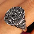 Серебряное мужское кольцо с гербом и львом, фото 4