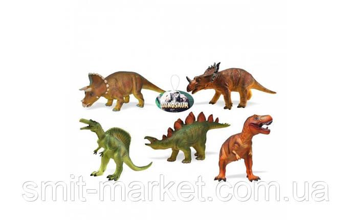 Большие резиновые динозавры ( 5видов), фото 2
