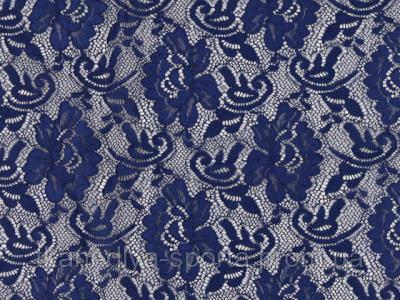 Стрейч-гипюр CHRISANNE (Англия) синяя ночь (flower midnight sky)