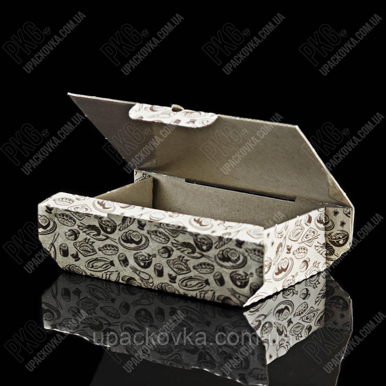 Коробка для суши бумажная, 165х115х50 мм. 100 шт / уп