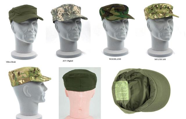 Военные кепки и военные панамы