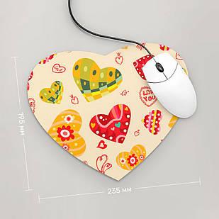 Коврик для мыши Сердце  Love You