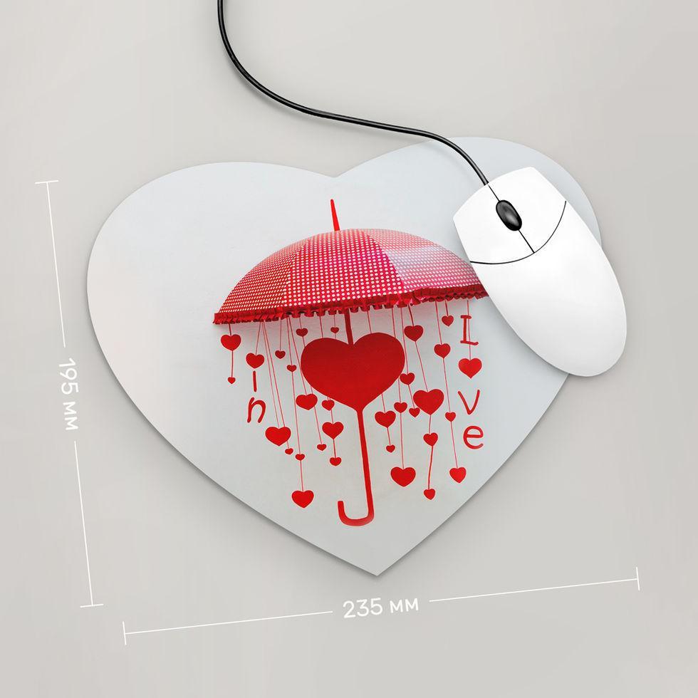 Коврик для мыши Сердце  Зонт ,  In Love