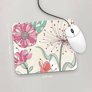 Коврик для мыши 234x194  Цветы №10  (растения, цветы, флора, узоры)