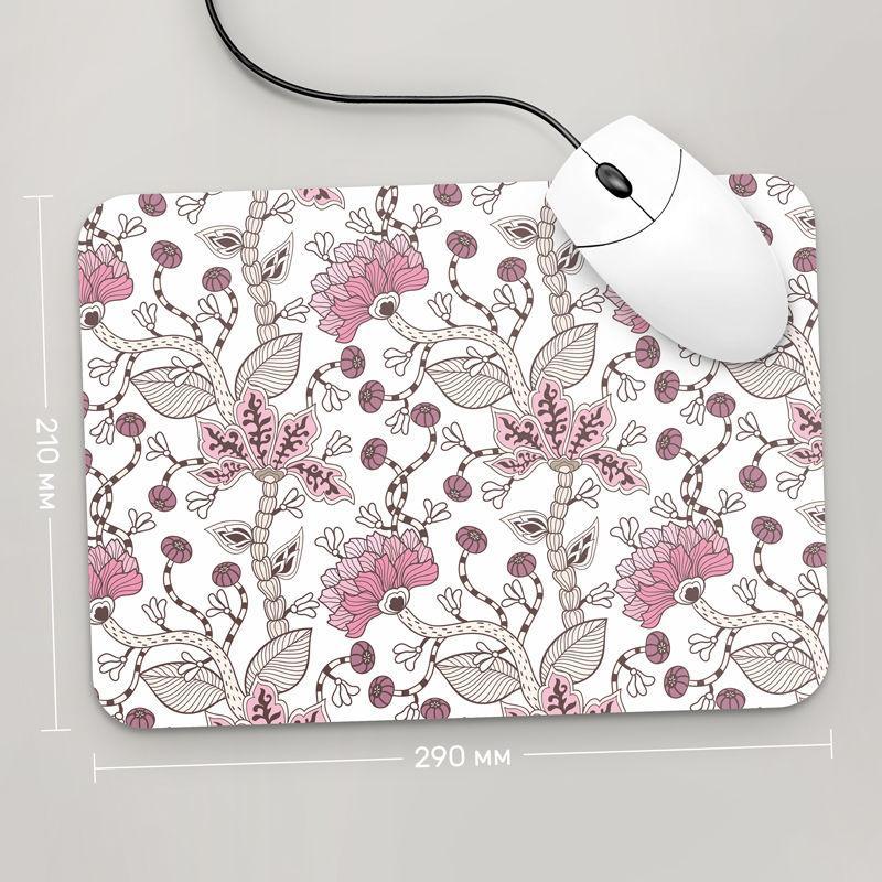 Коврик для мыши 290x210 Цветы №8 (растения, цветы, флора, узоры)